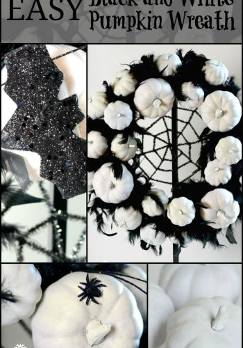 Easy Black and White Pumpkin Wreath