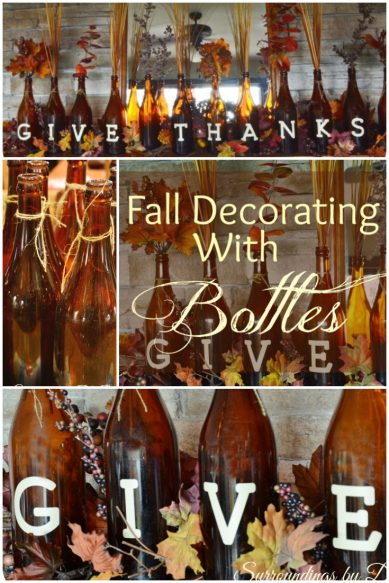 Fall Decorating with Bottles