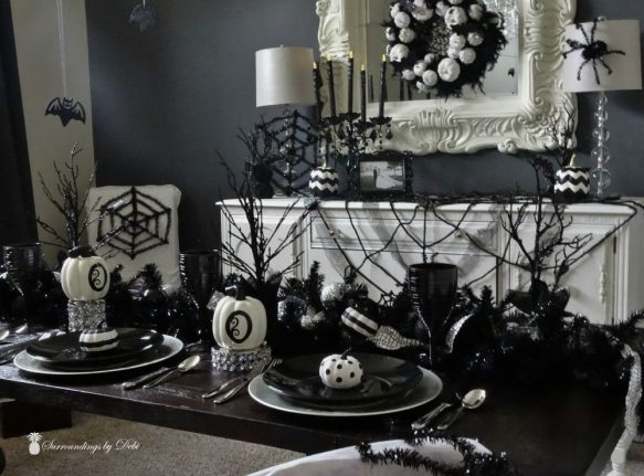 Halloween Dining Room Table Idea - Surroundings by Debi