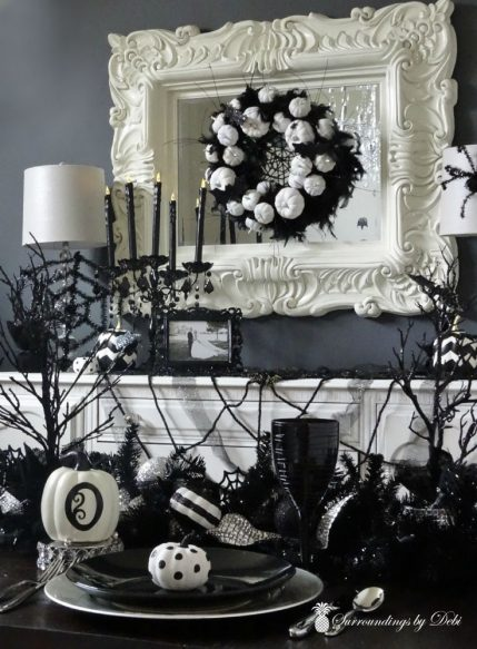 Halloween Dining Room - The Reveal - Surroundings by Debi
