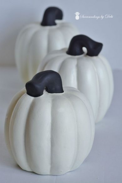 Painted Stems for BOO Pumpkins