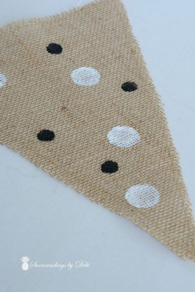 Pennants with Black Dots