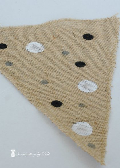 Pennants with Silver Dots