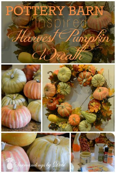 Pottery Barn Inspired Harvest Pumpkin Wreath