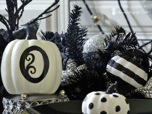 Simple additions to a Halloween Dining Room Table - Surroudnings by Debi