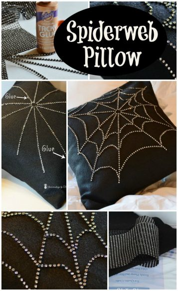 Create Your Own Halloween Spiderweb Pillow - Surroundings by Debi