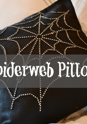 How to Create Your Own Halloween Spiderweb Pillow