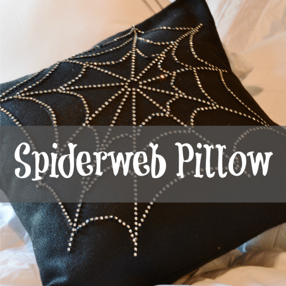 Create an Easy Spiderweb Pillow - Surroundings by Debi