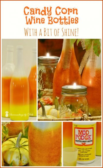 Candy Corn Wine Bottles - With a Bit of Shine! - Surroundings by Debi