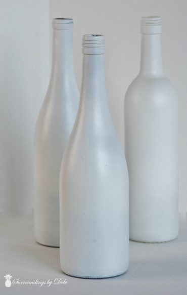 Wine Bottles Sprayed White