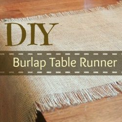 Burlap Table Runner – Super Simple!