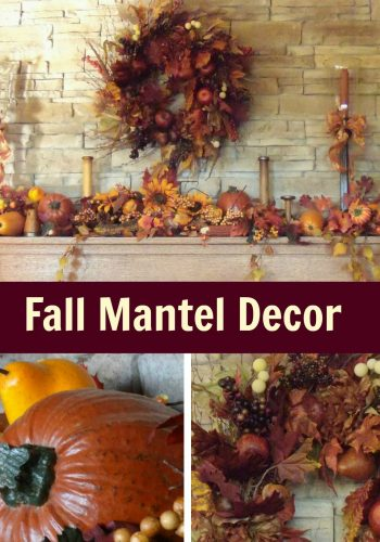 Fall Mantel Decor – Adding the Colors of the Season