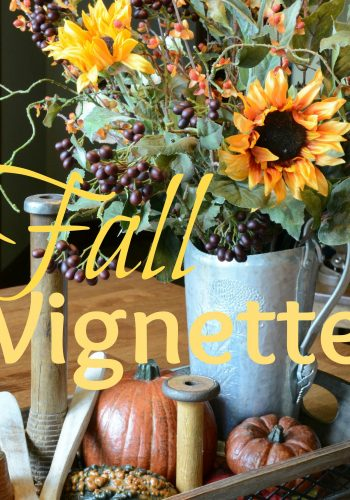 Fall Vignette – My First Touch of Fall This Year!