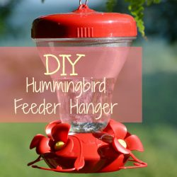 DIY Super Simple Hummingbird Feeder Hanger