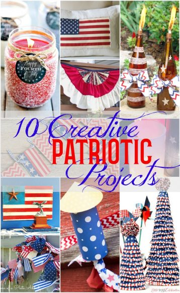 10 Creative DIY Patriotic Decor Projects - Easy, Fun and Super Cute Surroundings by Debi