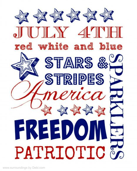 Free 4th of July Printable - Surroundings by Debi