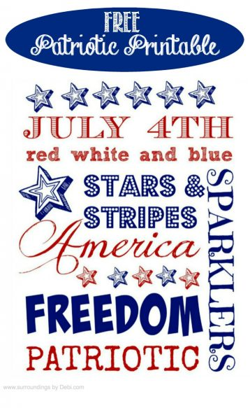 Enjoy this Free Patriotic Printable Found on Surroundings by Debi