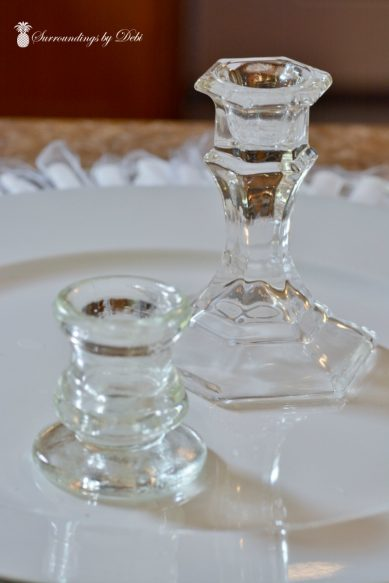 Candlesticks for Tea Party Centerpiece