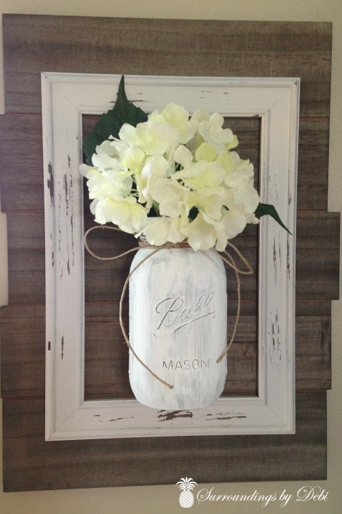 Mason Jar Wall Vase - Surroundings by Debi