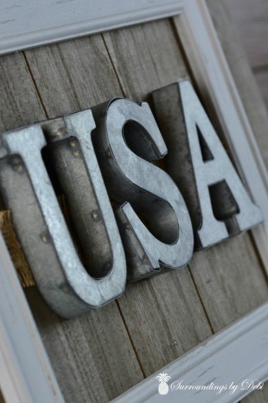 Farmhouse Style - USA Sign - Surroundings by Debi