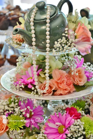 Tea Party Centerpiece - Surroundings by Debi 2