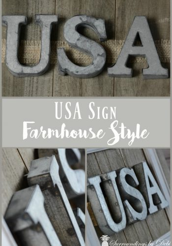 USA Sign – Farmhouse Style