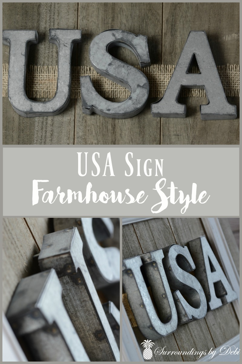 USA Sign - Farmhouse Style - Surroundings by Debi