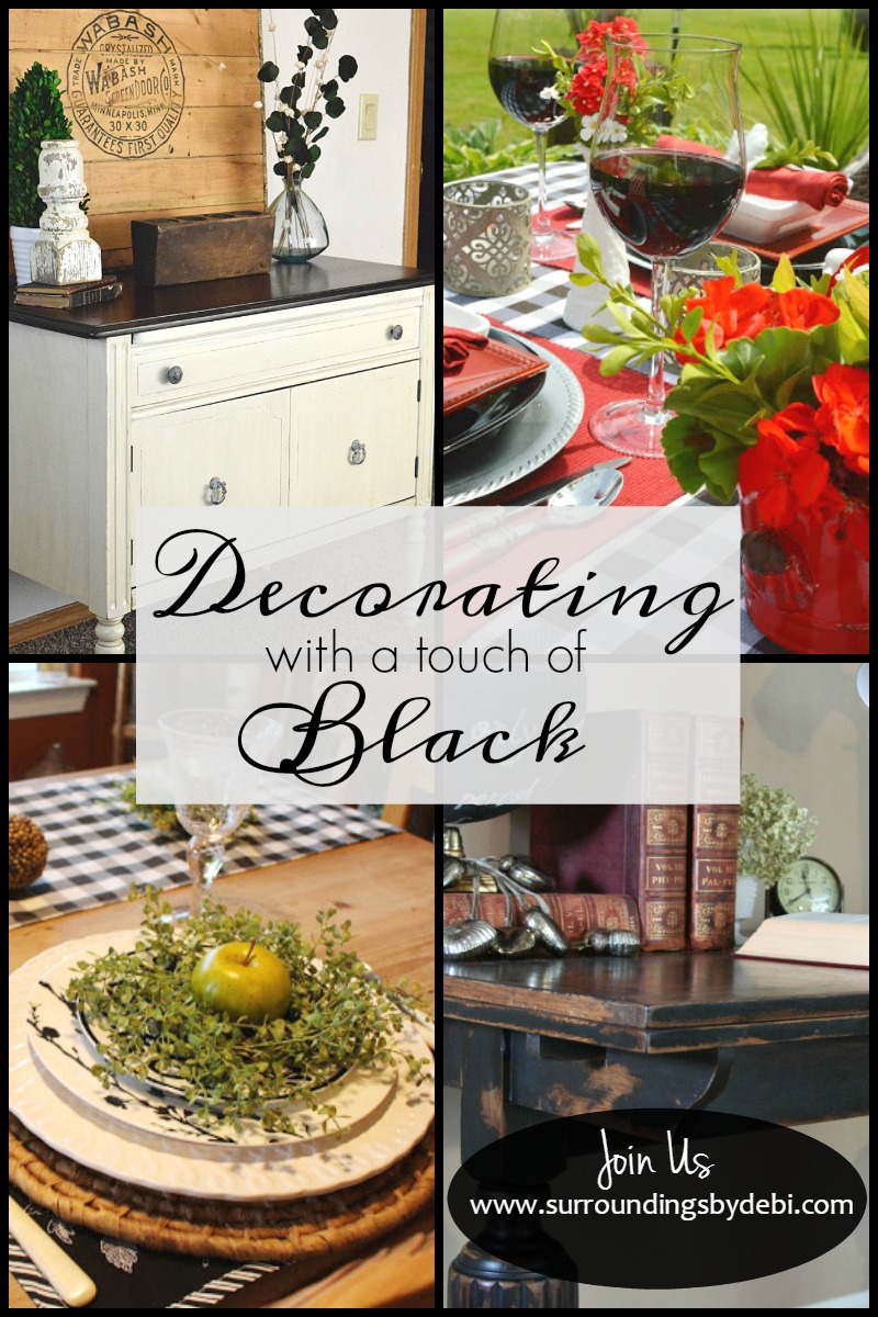 Decorating with a Touch of Black - Surroundings by Debi