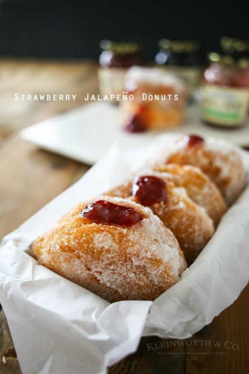 Strawberry Jalapeno Donuts