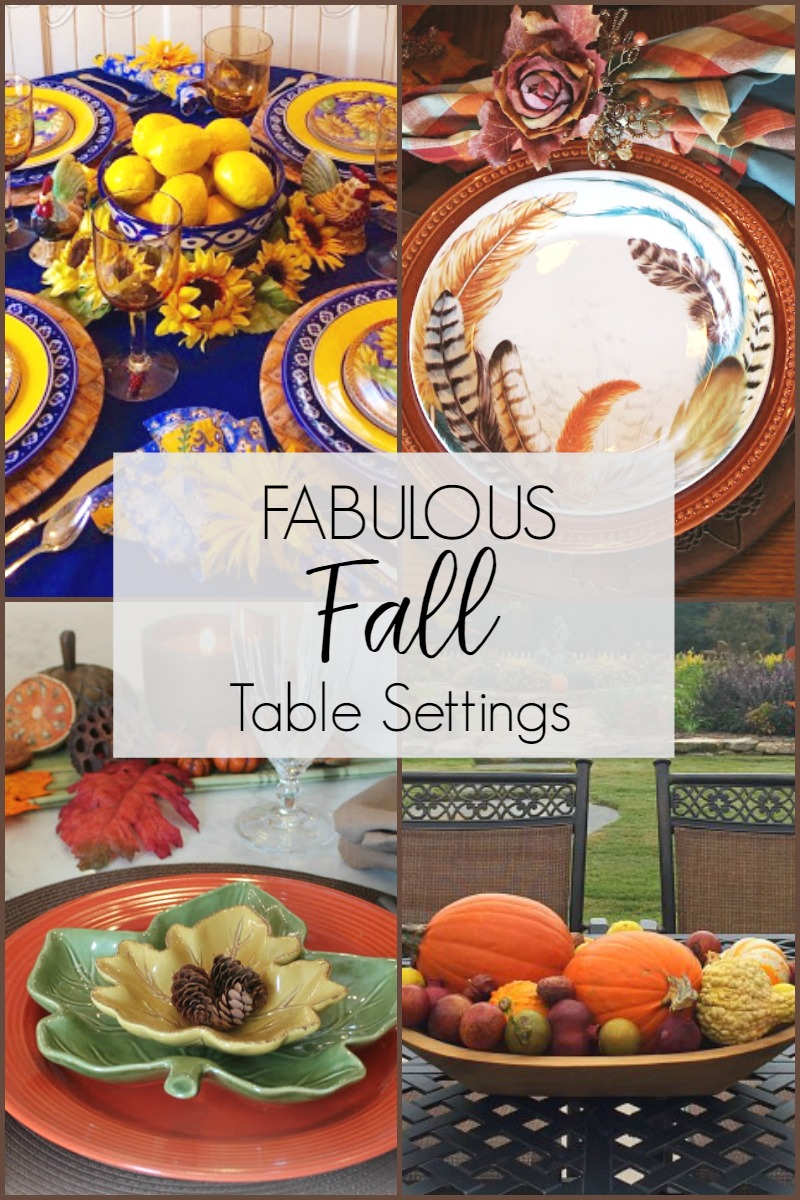 Fabulous Fall Table Settings