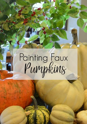 How to Paint Faux Pumpkins