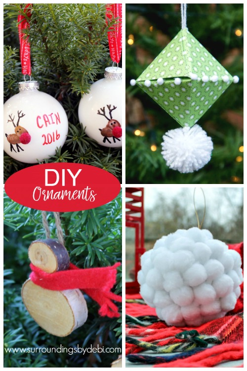 Four Fun DIY Christmas Ornaments - Surroundings by Debi