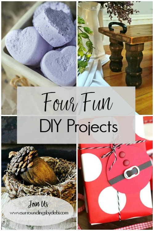 4 Fun DIY Projects - Surroundings by Debi