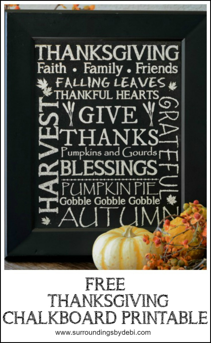 Free Thanksgiving Printable - 3 Ways - Surroundings by Debi