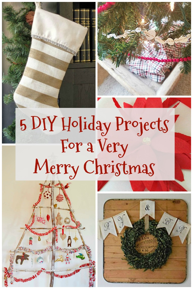 5 DIY Holiday Projects for a Very Merry Christmas - Surroundings by Debi