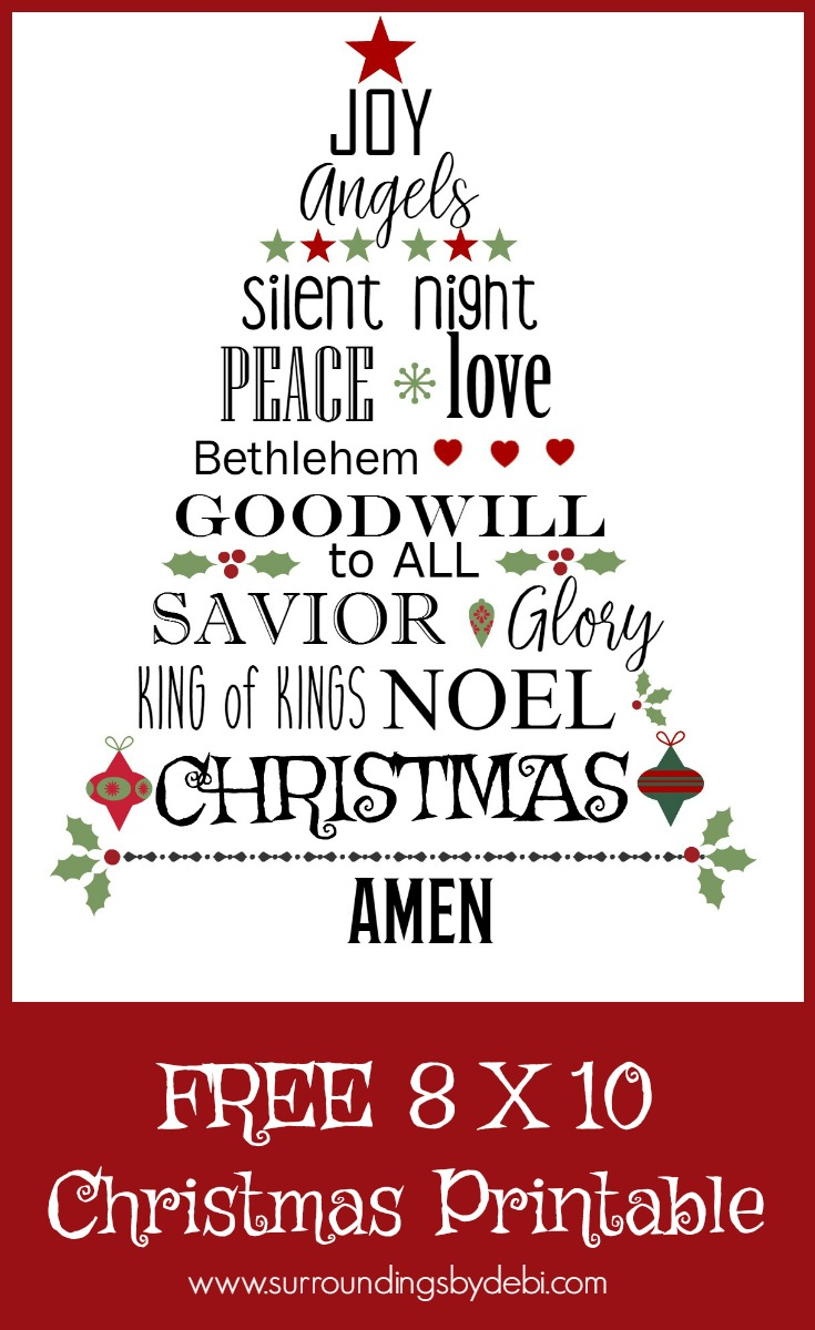 FREE Christmas Printable - Surroundings by Debi