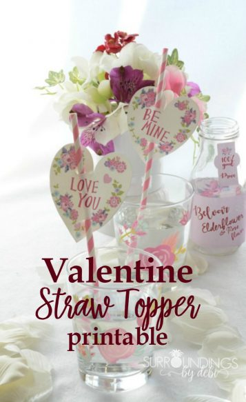 Valentine Straw Topper Printable - Surroundings by Debi