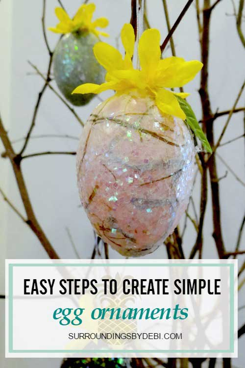 Easy steps to create simple Egg Ornaments - Surroundings by Debi