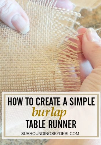 How to Create Simple Burlap Table Runner