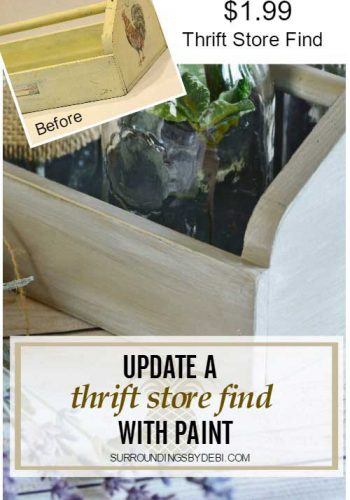 How to Quickly Transform a Thrift Store Find with Paint