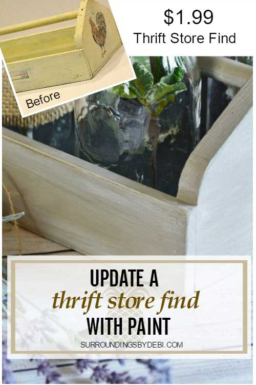 How to Quickly Transform a Thrift Store Find with Paint - Surroundings by Debi