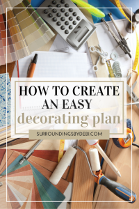 Create your own home decorating plan that gets results with these simple step by step instructions.