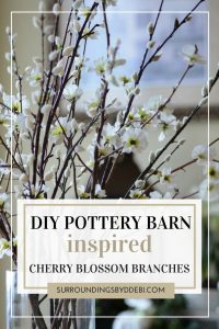 Create these great Pottery Barn Inspired Cherry Blossom Branches with these easy steps